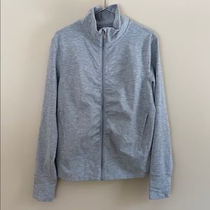 BNWT LULULEMON Gather Up Jacket size 12 gray zip